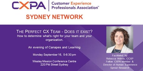CXPA Sydney - The Perfect CX Team - Does it Exist? tickets