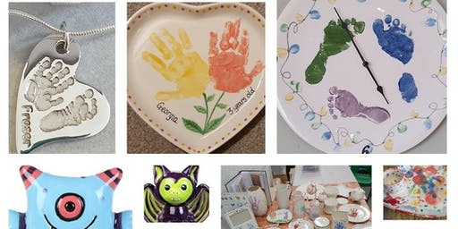 Paint your own pottery and Baby Hand and Foot print workshop