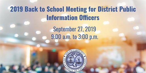 SC/NSPRA and SCDE Back to School Meeting for PIOs