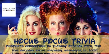Hocus Pocus Trivia at Pinstripes Georgetown tickets