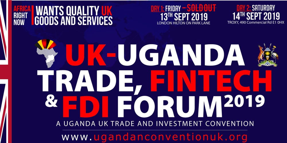 UGANDA-UK TRADE & INVESTMENT CONVENTION Tickets, Sat 14 Sep