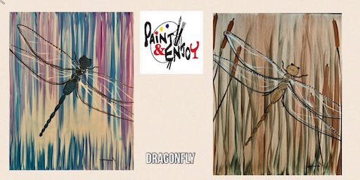 """Paint and Enjoy at Splash Supply Co. """"Dragonfly """""""
