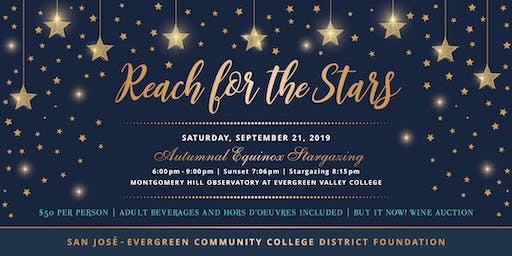 Reach for the Stars - Autumnal Equinox Stargazing Fundraiser