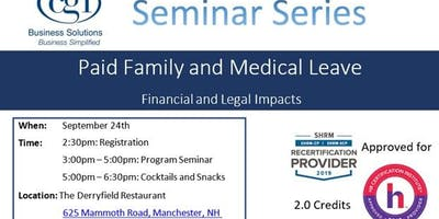 Copy of CGI Seminar Series - PFMLA: The Legal and Financial Impact for MA and Non MA Based Employers