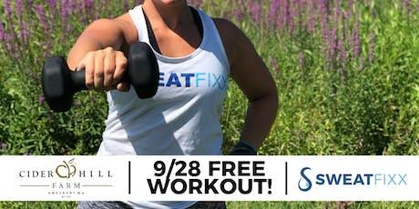 FREE Sweat Fixx Sculpt at Cider Hill Farm tickets