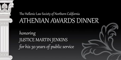 The Hellenic Law Society Athenian Awards Dinner honoring Justice Martin Jenkins