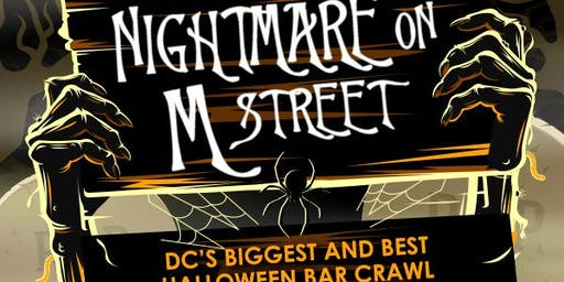 DC's  Biggest Halloween Bar Crawl 21st Annual Nightmare on M St