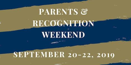 Parents & Recognition Weekend 2019