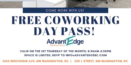 AdvantEdge Free Coworking Day- 1st Thursdays  tickets