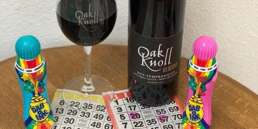 October 13 Bingo & Wine