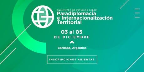 Encuentro Estudios sobre Paradiplomacia e Internac entradas
