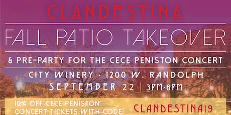CLANDESTINA: Fall Patio Takeover! tickets