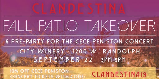 CLANDESTINA: Fall Patio Takeover!