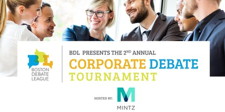 Corporate Debate Tournament 2019 tickets