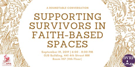 Supporting Survivors in Faith- Based Spaces tickets