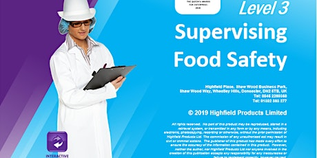 Highfield Level 3 Award in Food Safety in Catering (RQF) tickets
