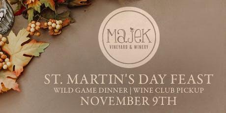 St. Martin's Day Feast, Wild Game Dinner, & Wine Club Pickup tickets