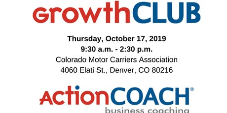 ActionCOACH's GrowthCLUB Workshop for Business Owners - October 17, 2019 tickets
