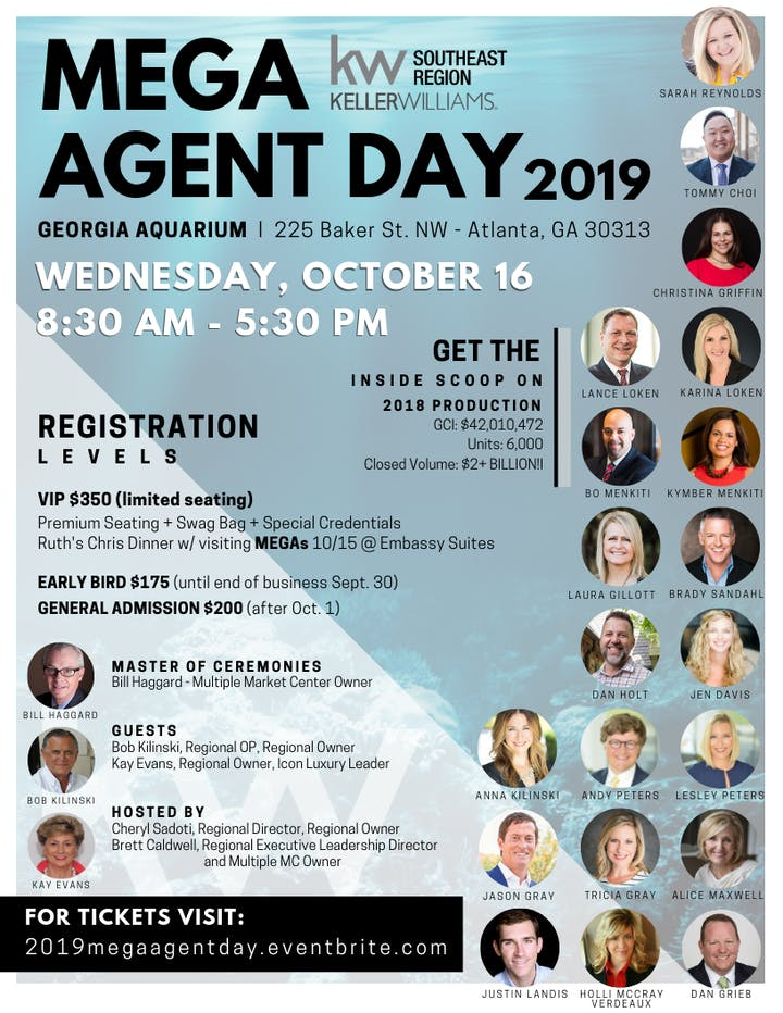 Mega Agent Day Tickets, Wed, Oct 16, 2019 at 8:30 AM