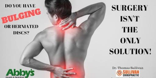 Free Seminar: Bulging/Herniated Discs Surgery Alternatives