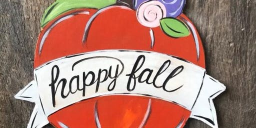 Happy Fall Wooden Pumpkin Painting Class
