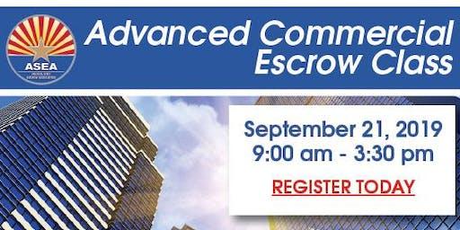 Advanced Commercial Escrow Class September 21, 2019