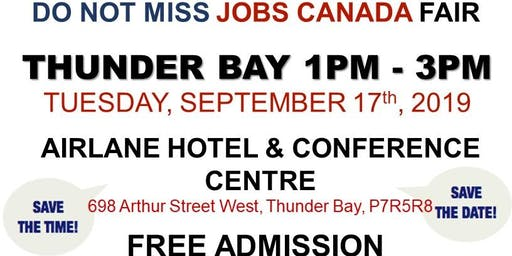 FREE: Thunder Bay Job Fair - September 17th, 2019