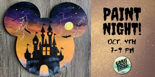 Spooky Magical Kingdom | Paint Night at Dk Play