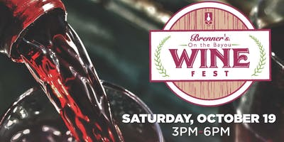 Brenner's on the Bayou Annual Fall Wine Fest