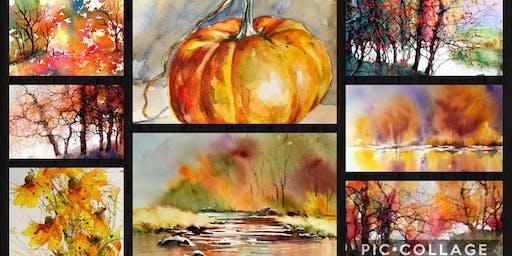 Autumn Landscapes & Fall Foliage - Beginner's Watercolor Class- Mount Ulla