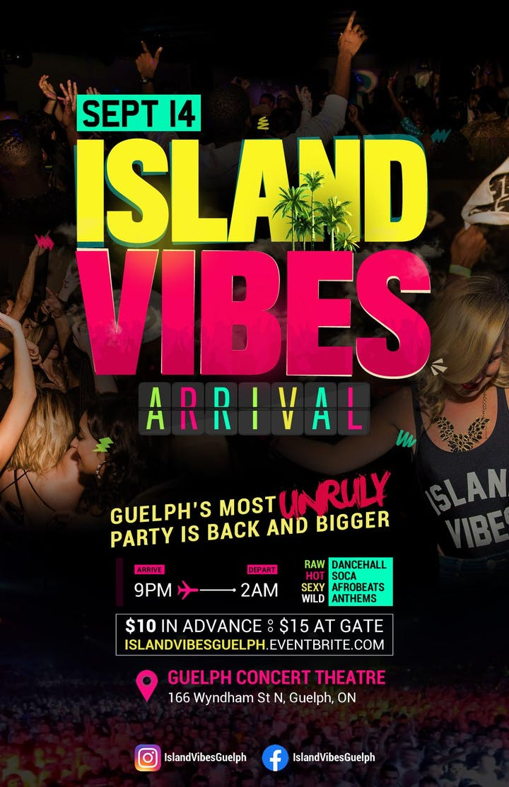 Island Vibes Dance Party @Guelph Concert Theatre