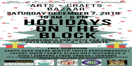 Holidays On The Block Arts & Crafts Bizarre & Block Party 2019 tickets