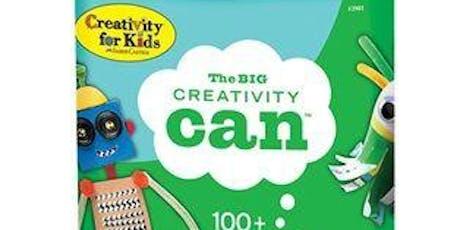 Creativity Cans Craft tickets