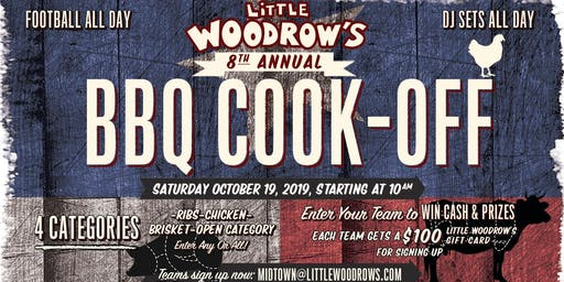 TEAM REGISTRATION for Little Woodrow's Midtown 8th Annual BBQ Cook-Off