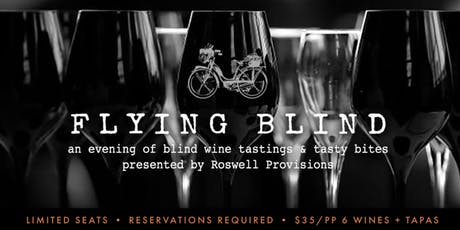 Flying Blind: A Blind Wine Tasting Experience at Roswell Provisions tickets