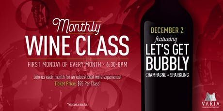 Let's Get Bubbly -  Wine Workshop tickets