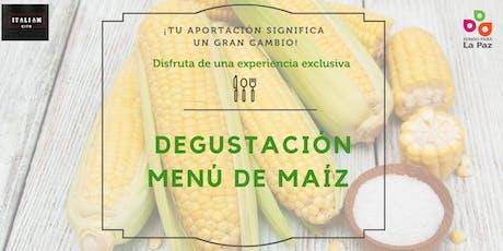 Degustación de menú de maíz entradas