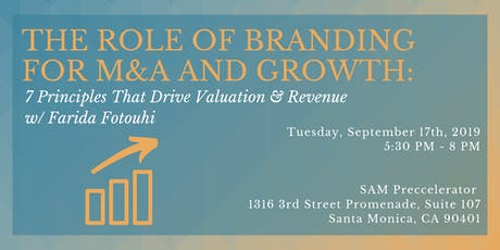 The Role of Branding for M&A and Growth: 7 Principles That Drive Valuation & Revenue  tickets