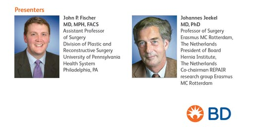 Join BD for a dinner lecture with Drs. John P. Fischer and Johannes Jeekel!