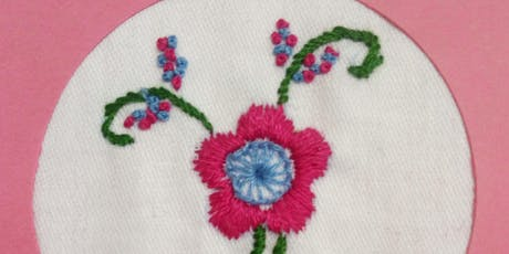 Flowers in Stitch hand embroidery workshop tickets