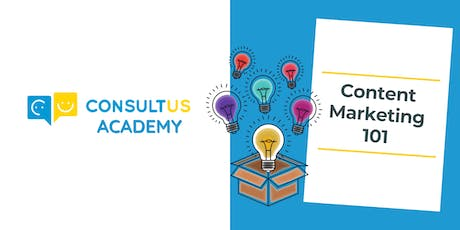 Content Marketing 101  - November 2nd 2019 tickets