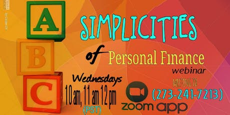 Simplicities of Personal Finance - SD tickets