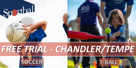 FREE TRIAL - Sportball Soccer & T-Ball in CHANDLER/TEMPE - ages 2 yrs - 8 yrs tickets