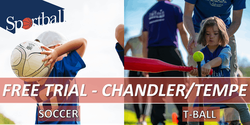 FREE TRIAL - Sportball Soccer & T-Ball in CHANDLER/TEMPE - ages 2 yrs - 8 yrs