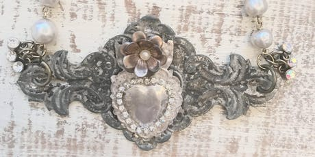 Vintage Key Plate Necklace tickets