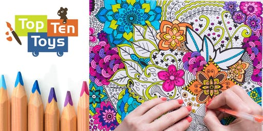 Adult Coloring Night, Top Ten Toys, Sept 19