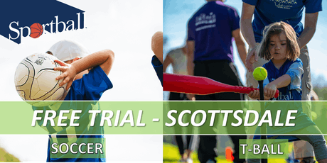 FREE TRIAL - Sportball Soccer & T-Ball in SCOTTSDALE - ages 2 yrs - 8 yrs tickets