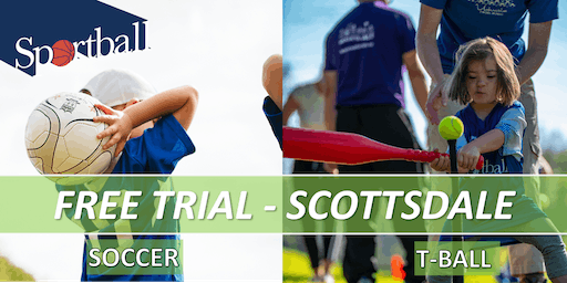 FREE TRIAL - Sportball Soccer & T-Ball in SCOTTSDALE - ages 2 yrs - 8 yrs