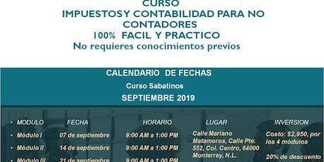 Curso de Contabilidad Septiembre 2019 tickets