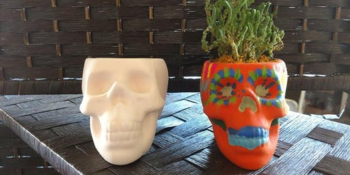 Day of Dead Pot and Succulent Planting